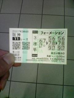 スーパーG1宝塚記念当たり馬券後に解説